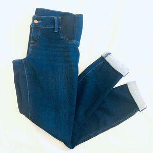 Ingrid & Isabel Womens Blue Comfort Stretch Maternity Skinny Denim Jeans Size 12